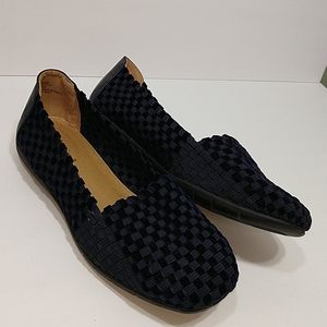 Comfortview Bethany Blue Woven Flats loafers